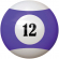 "2-1/4"" purple/white #12 Ball - 26-1027-12E"