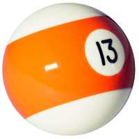 26-1027-13B - INDIVIDUAL BELGIAN POOL BALL EA/BOX=16 #13 BALL 2-1/4