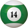 "2-1/4"" green/white #14 Ball - 26-1027-14E"