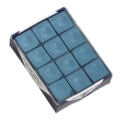 Silver Cup Blue Cue Chalk (12 pack) - 26-1051-12B - Item Photo