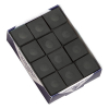 Silver Cup Black Cue Chalk, Box of 12 - 26-1051-12BK