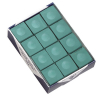 Silver Cup Green Cue Chalk, Box of 12 - 26-1051-12G