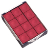 Silver Cup Red Cue Chalk, Box of 12 - 26-1051-12R