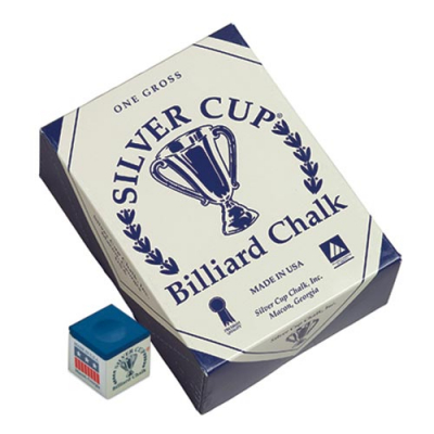 Silver Cup Blue Cue Chalk (144 pack) - 26-1051-144B - Item Photo