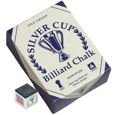 Silver Cup Black Cue Chalk (144 pack) - 26-1051-144BK - Item Photo