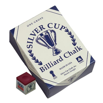 Silver Cup Burgundy Cue Chalk (144 pack) - 26-1051-144BUR - Item Photo