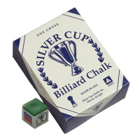 26-1051-144G - Silver Cup Green Cue Chalk (144 pack)