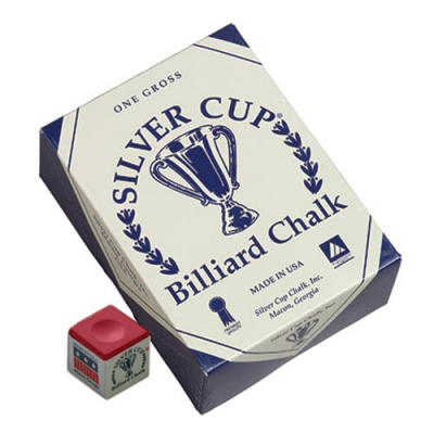 Silver Cup Red Cue Chalk (144 pack) - 26-1051-144R - Item Photo