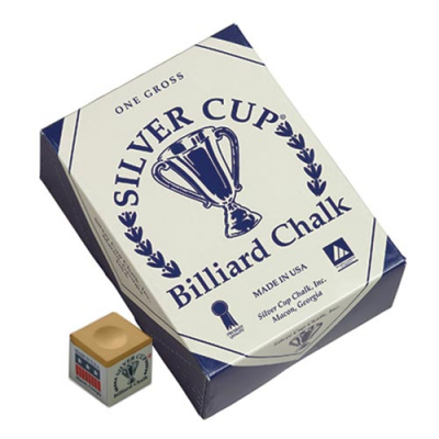 Silver Cup Tan Cue Chalk (144 pack) - 26-1051-144TN - Item Photo