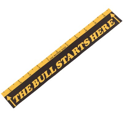 """The Bull Starts Here"", Throw Line Marker - 26-1070-00 - Item Photo"