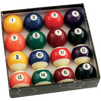 "2-1/4"" Standard Pool Ball Set with Two 8-Balls - 26-2002-03 - Item Photo"