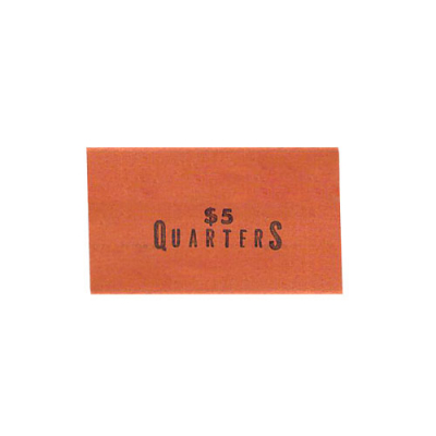 $.25 Quarter Flat Coin Wrapper, Capacity $5.00 - 27-1230-00 - Item Photo