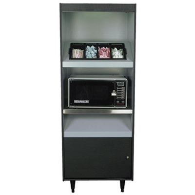 "Microwave / Condiment Stand  49""W X 45""H X 25.5""D with 1 Low Shelf Tray - 27-1443-00 - Item Photo"