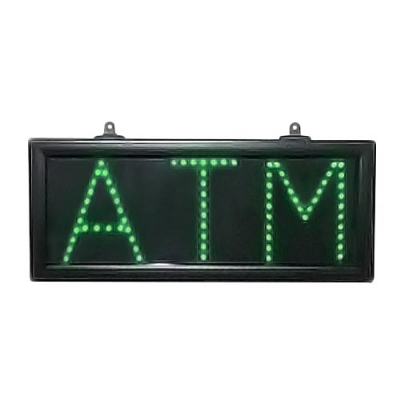 "Green LED ATM Sign, 7"" X 16"" - 28-0007-00 - Item Photo"