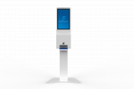 TOUCHLESS HAND-SANITIZING KIOSK WITH DIGITAL DISPLAY