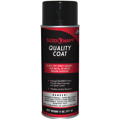 "SUZOHAPP ""Quality Coat"" Spray Paint, Semi-Gloss Black - 29-1012-00 - Item Photo"