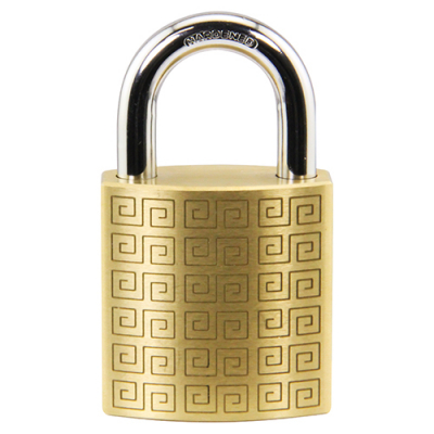 BRASS PADLOCK 40X40X20 7 PIN TUBLER KA 15101 NO KEYS - 30-2919-15101 - Item Photo