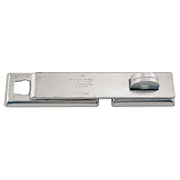 #825 Case Hardened Solid Steel Hasp, Straight Bar Type - 30-1185-000 - Item Photo