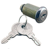 "7/8"" Economy Single Bitted Locks, Keyed Alike, Key #641 - 30-2225-641"