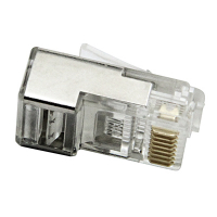 32-0095-00 - RJ45 8P8C Modular Plug, Shielded, 2-Prong Solid Round Cable