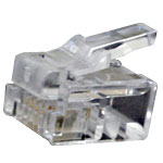 RJ11 6P4C Modular Plug, 2-Prong Stranded Flat Cable - 32-0085-00 - Item Photo