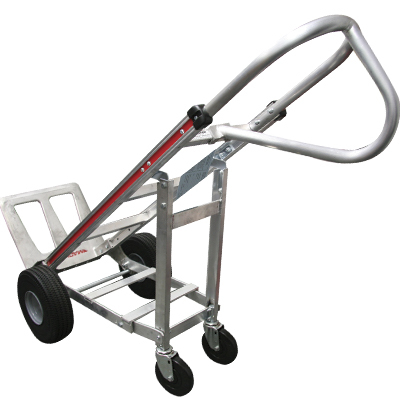 "Magline 52"" Tallboy utility hand truck w/ 4th wheel attachment  - 33-1257-00 - Item Photo"