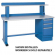 "Lista 72"" Shelf & Riser Only for Repair Workbenches - 33-1417-00"