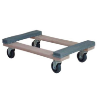 33-1801-00 - Deluxe All-Purpose rubber End 4 Wheel Dolly