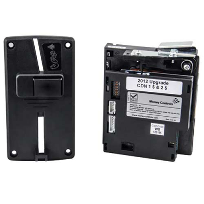 TouchTunes Money Controls Coin Acceptor & Bezel, Canadian $1 & $2 - 300222-001 - Item Photo