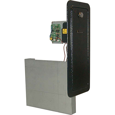 Ticket Dispenser Door with Entropy TD-963CR Ticket Dispenser, with Ticket Bin, LED, Level Sensor Switch & Harness - 40-0549-00 - Item Photo