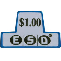 42-3168-00 - ESD coin chutes $1.00 Decal
