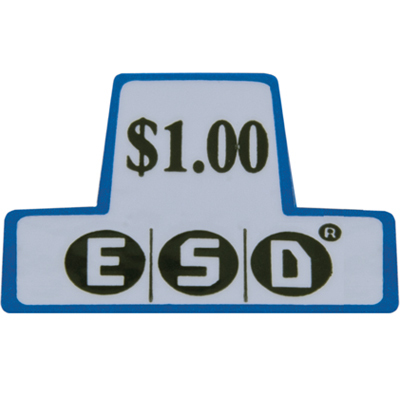 ESD coin chutes $1.00 Decal - 42-3168-00 - Item Photo
