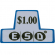 ESD coin chutes $1.00 Decal - 42-3168-00