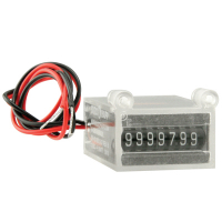 42-08024-07 - HAPP 7 DIGIT 24V METER FRT MT W/DIODE & MAGNIFIED WINDOW