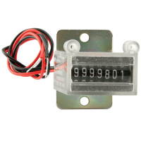 42-08024-073 - METER 24V 7 DIGIT W/BRKT AND SCREW