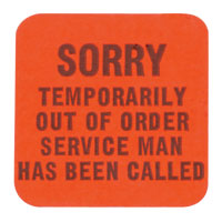 """Out of Order"" Labels - 42-7017-00 - Item Photo"