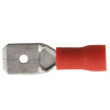 Semi-Insulated Male Quick Disconnect, Red, 18-22 AWG, .250 Terminal - 43-0826-00