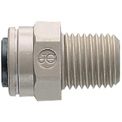 "John Guest 1/4MPT x 3/8"" Tube Connector - Super Speedfit® Push-In - 43-1420-00 - Item Photo"