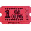 Red Redemption Tickets - 49-0906-10