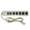 6-Outlet Power Strip with Surge Protection, with Straight Plug - 49-0487-00