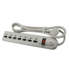 7-Outlet Surge Protector with Slide Safety Covers - 49-0963-40