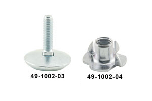 "Leg Leveler Swivel with Nut, 1/2-13 x 4"", 3750lb Load, 1.25"" Base - 49-3043-00 - Item Photo"