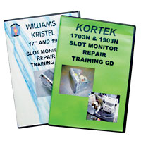 Slot Monitor Repair Training CD, Kristel for WMS - 49-2688-00 - Item Photo