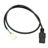 Power Harness for LCD Power Supplies 3 Pin Molex to IEC Plug - 49-3217-LCD