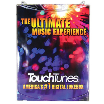 TouchTunes Plastic Part, Poster, Backing,  MX-1 - 400501-001 - Item Photo
