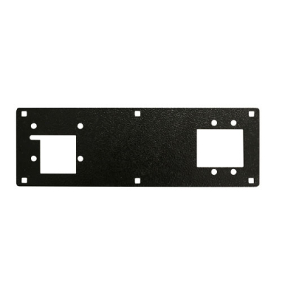 FRONT PLATE SINGLE, BLACK POWDER PAINT - 42-0969-00 - Item Photo
