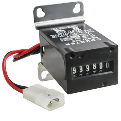 "6 Digit TRUMETER Meter 12V DC 6 DIGIT with Diode, Bracket, and .093"" Molex Plug - 42-1000-00 - Item Photo"