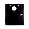 UPPER MIDWIDTH DOOR, BLACK WITH INTERCARD CUTOUT - 42-3607-30