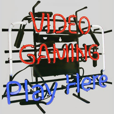 "Neon Sign ""Video Gaming, Play Here"" - 49-0946-00 - Item Photo"