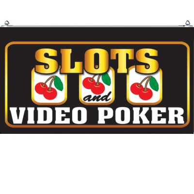 "LED Sign ""SLOTS and VIDEO POKER"" - 49-2998-00 - Item Photo"
